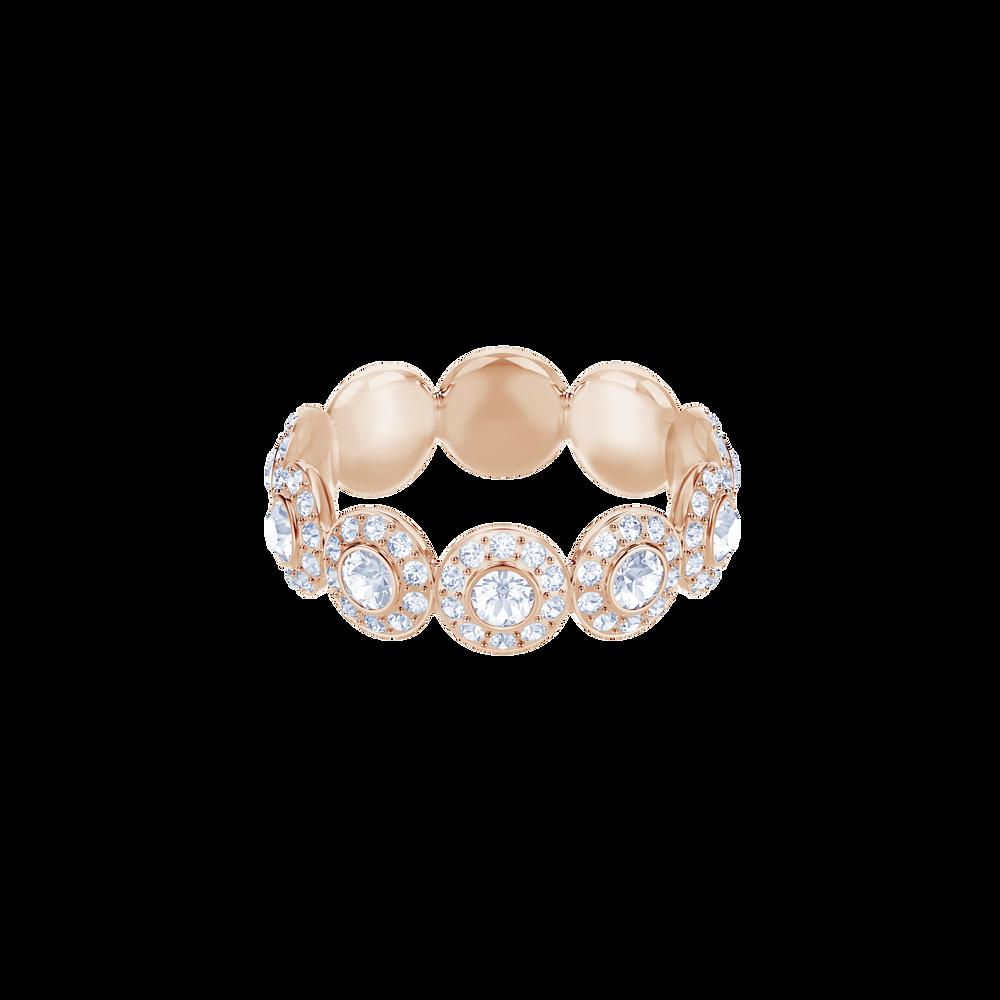 Angelic Ring, White, Rose Gold Plating
