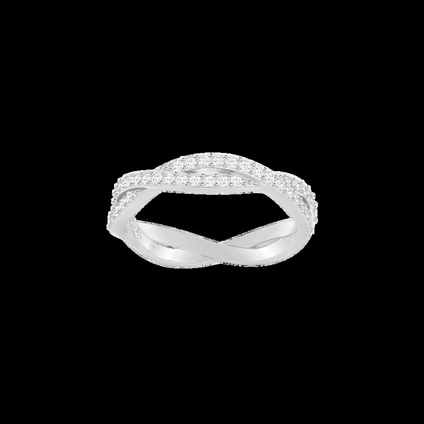 Infinity Ring, White, Rhodium plated