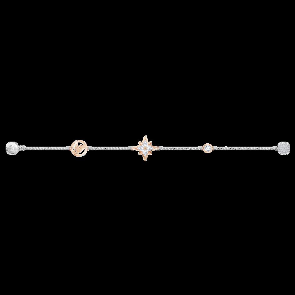 Swarovski Remix Collection Star Strand, Multi-colored, Mixed metal finish