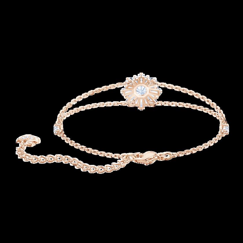 Sunshine Bracelet, White, Rose gold plating