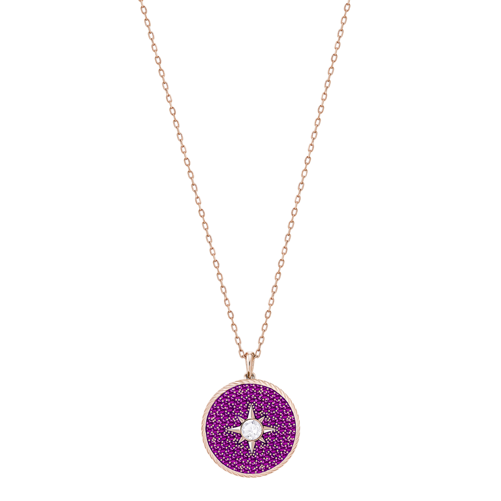 Locket Pendant, Pink, Rose Gold Plating