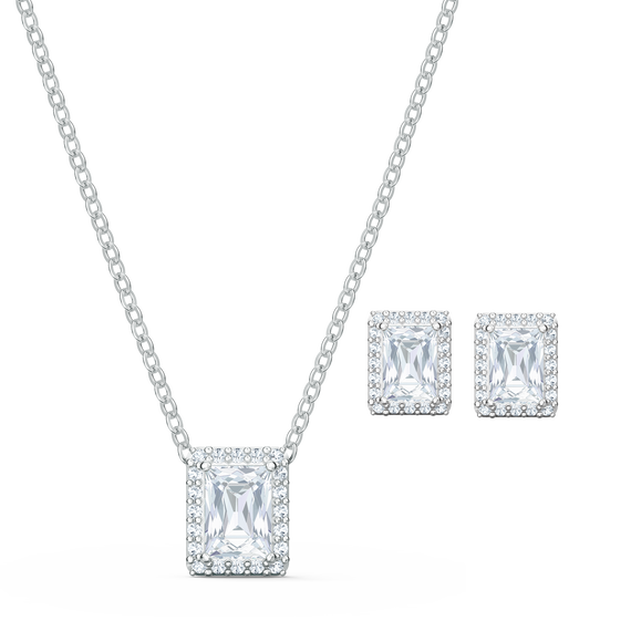 Angelic Set, White, Rhodium plated