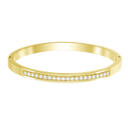 Further Thin Bangle, White, Gold-tone plated