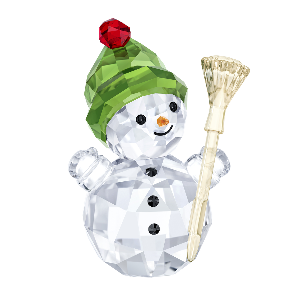 Snowman With Broom Stick