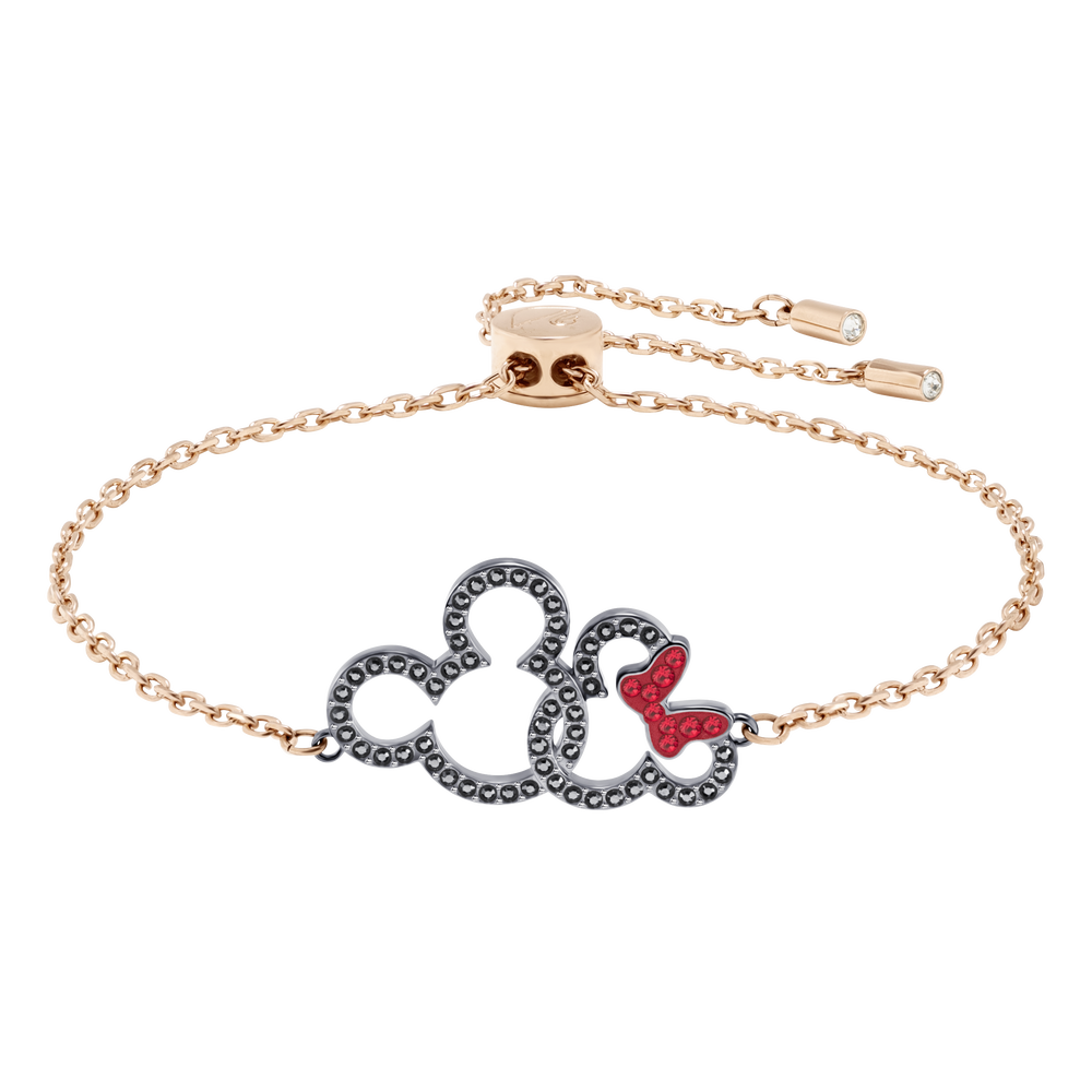 Mickey & Minnie Bracelet, Multi-Colored, Mixed Plating