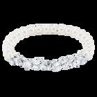 Louison Pearl Bracelet, White, Rhodium Plating