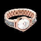 Cosmic Rock Watch, Metal Bracelet, White, Rose Gold Tone