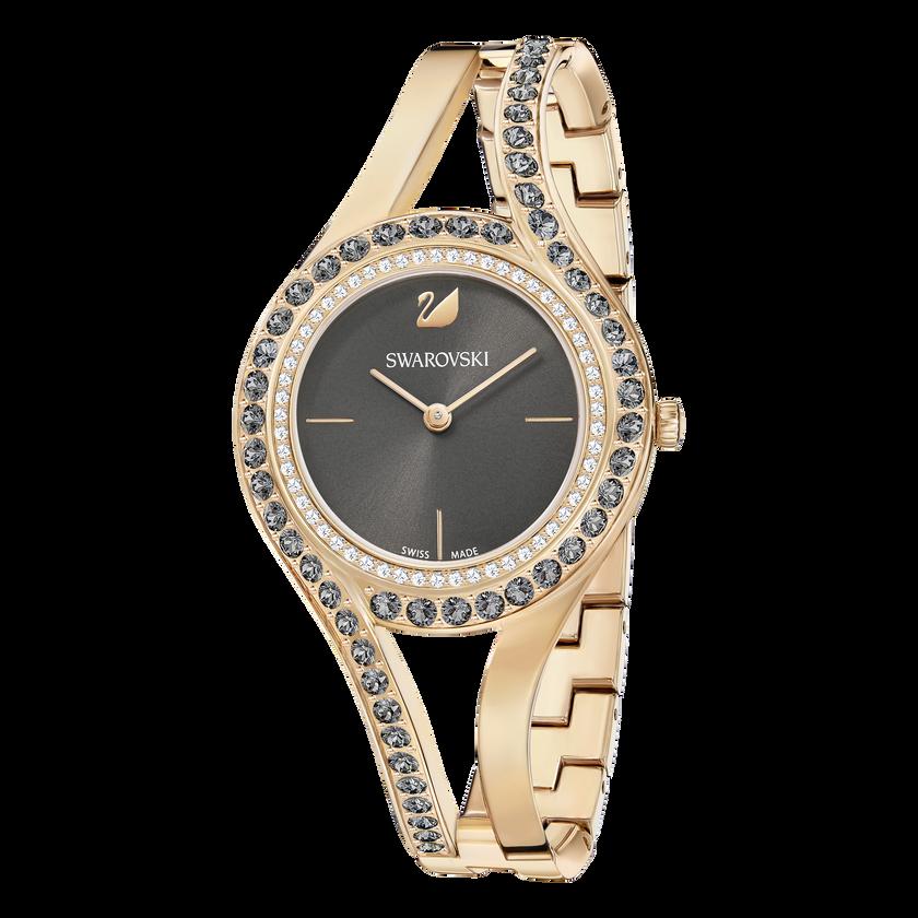 Eternal Watch, Metal Bracelet, Dark Gray, Rose Gold Tone