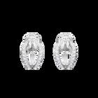 Lifelong Hoop Pierced Earrings, Small, White, Rhodium Plating