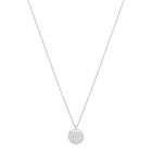 Ginger Pendant, White, Rhodium plated