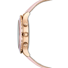 Octea Lux Chrono Watch, Leather Strap, Pink, Rose gold tone