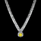 Birthstone Pendant, November, Yellow, Rhodium plated