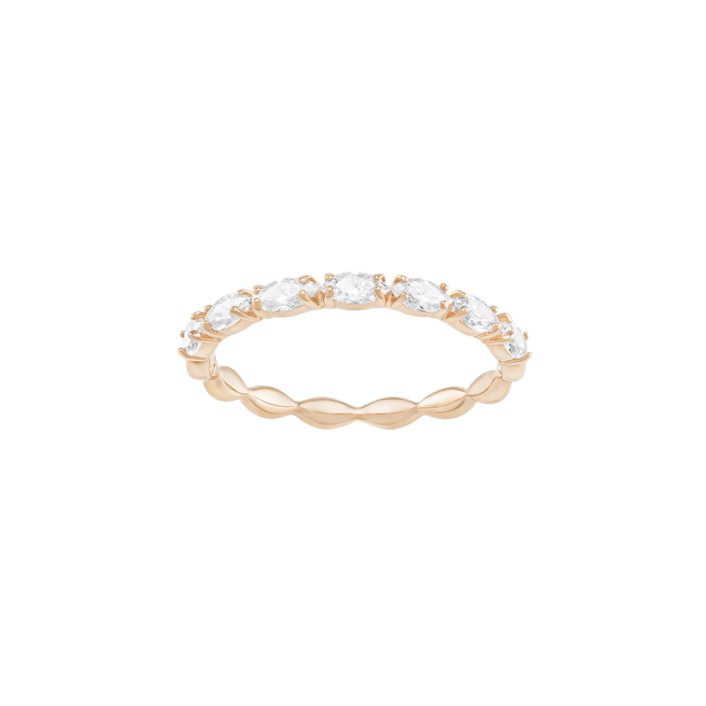 Vittore Marquise Ring, White, Rose Gold Plated
