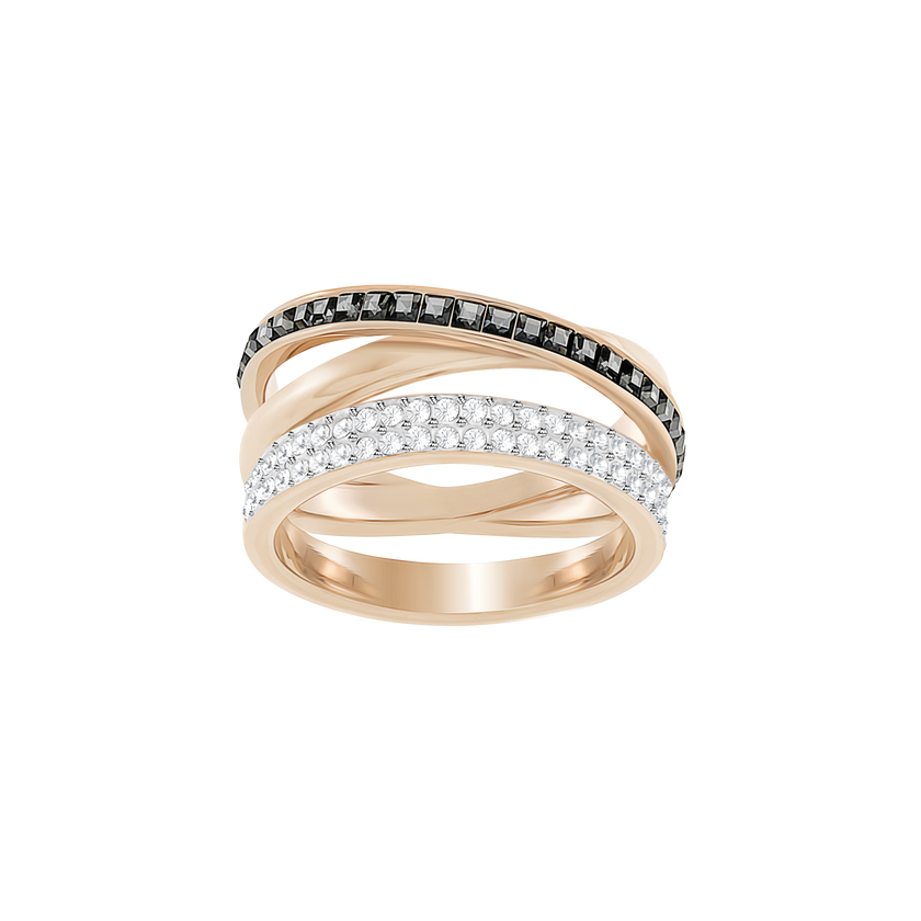 Hero Ring, Gray, Rose-gold tone plated