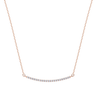 Only Necklace, White, Rose gold plating