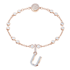 Swarovski Remix Collection Charm U, White, Rose Gold Plating