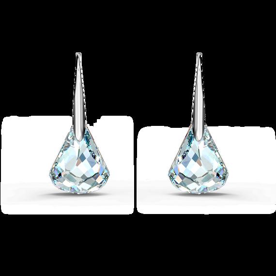 Spirit Pierced Earrings, White, Rhodium plated