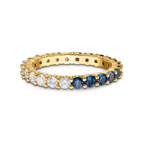 Vittore Half XL Ring, Blue, Gold-tone plated