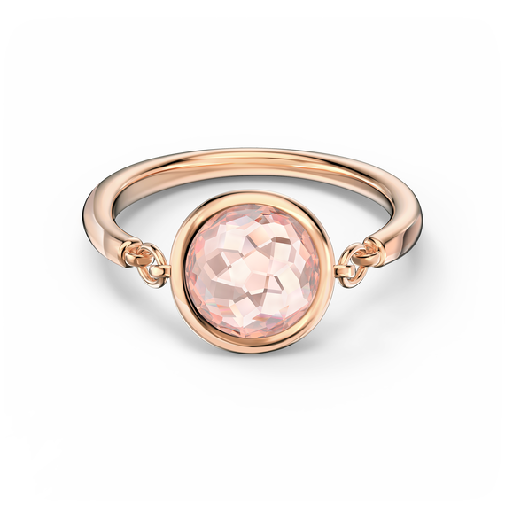 Tahlia Ring, Pink, Rose-gold tone plated