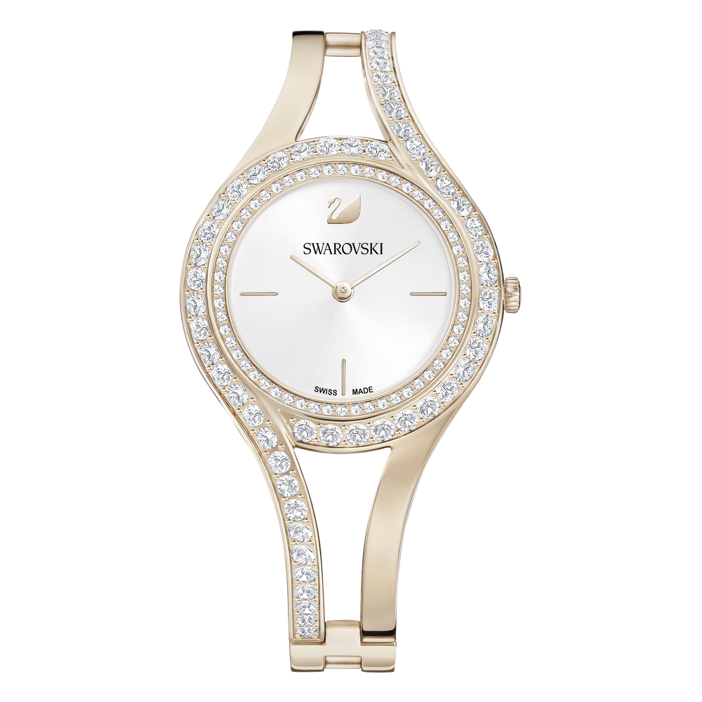 Eternal Watch, Metal Bracelet, White, Champagne Gold Tone