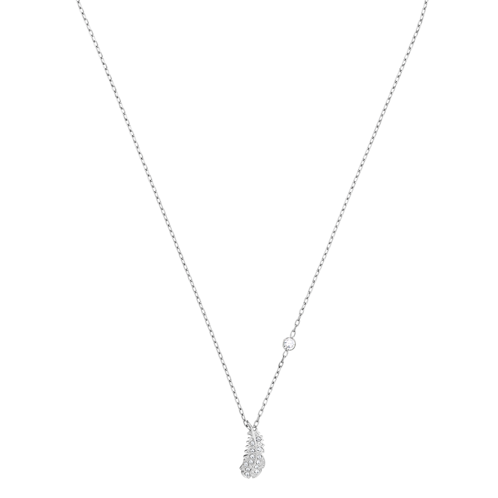 Naughty Necklace, White, Rhodium plated