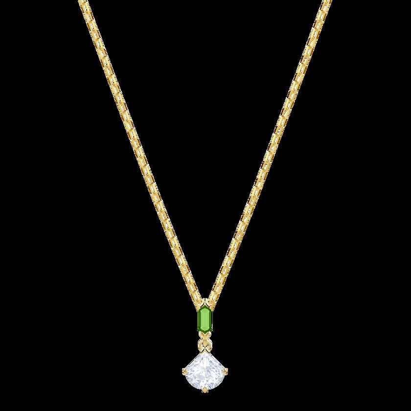 Oz Pendant, White, Gold plating