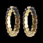 Moselle Hoop Pierced Earrings, Brown, Gold-tone plated