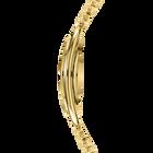 Crystalline Oval Bracelet Watch, Gold Tone