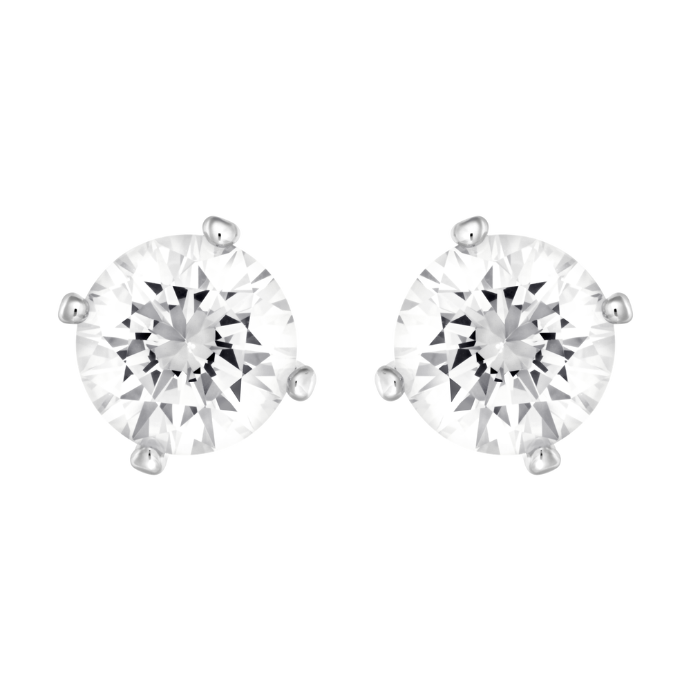 Attract Pearl Pierced Earrings, White, Rhodium Plating