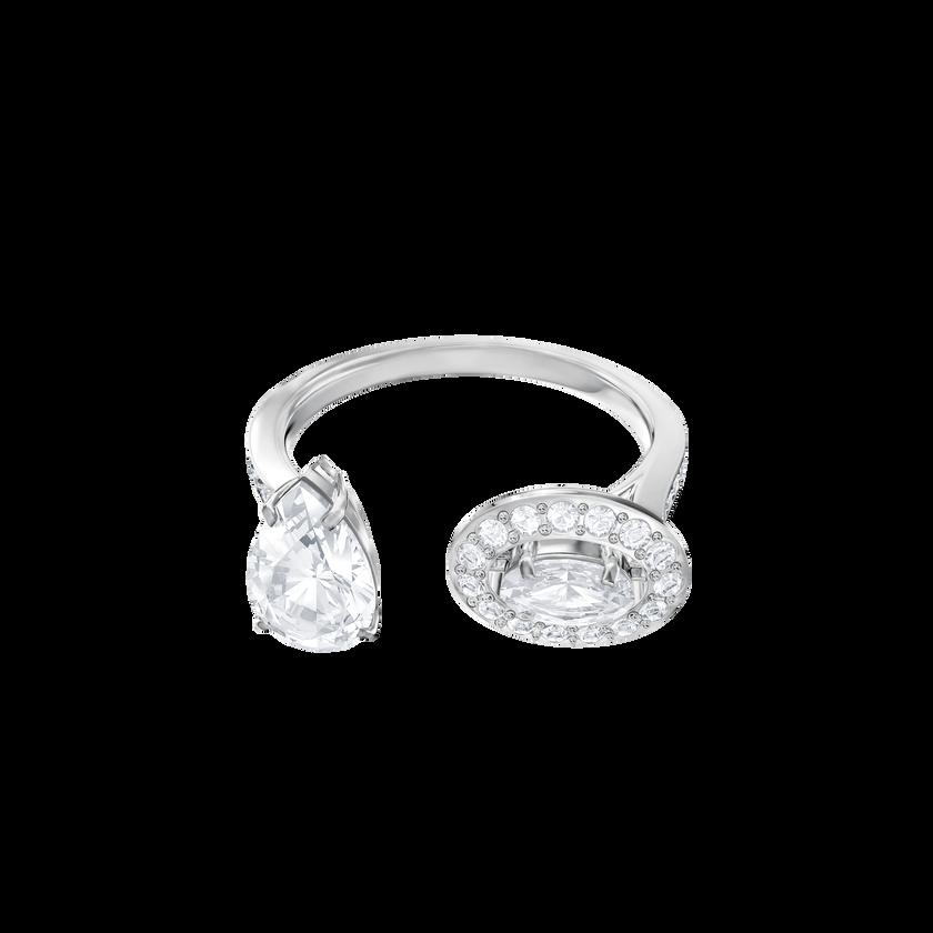 Attract Ring, White, Rhodium Plating