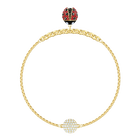 Swarovski Remix Collection Ladybug Strand, Multi-colored, Gold plating