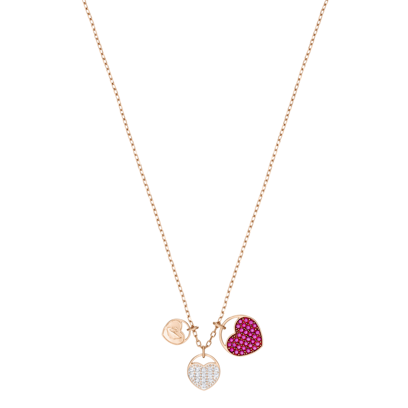Ginger Pendant, Pink, Small, Rose gold plating