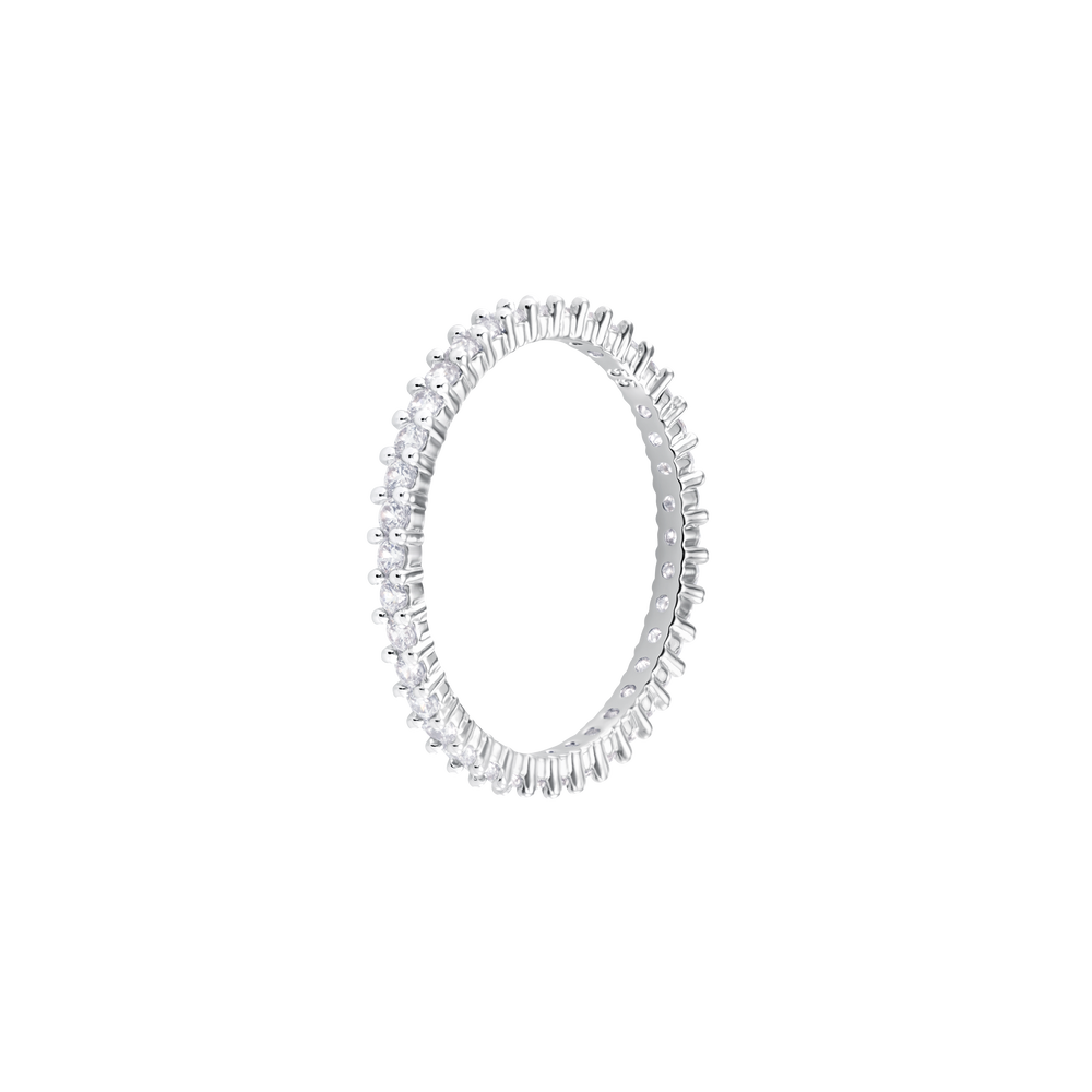 Vittore Ring, White, Rhodium Plated