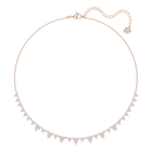 Lima Necklace, White, Rose-gold tone plated