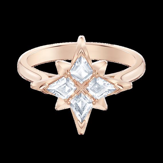 Swarovski Symbolic Star Motif Ring, White, Rose-gold tone plated