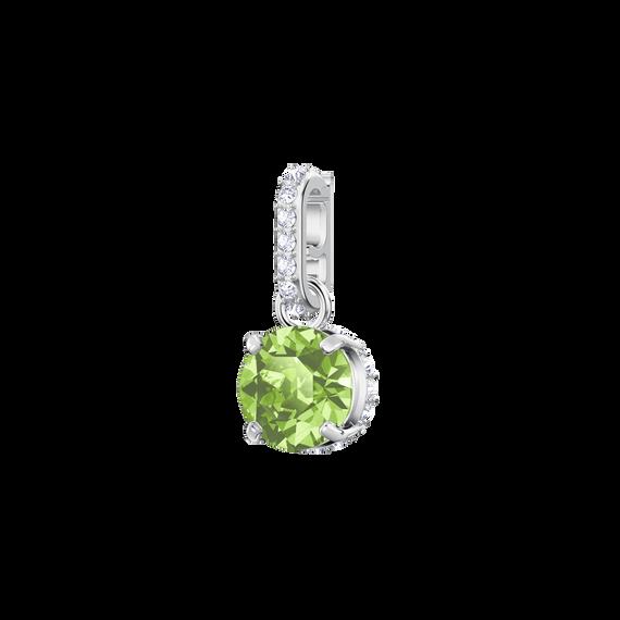 Swarovski Remix Collection Charm, August, Light Green, Rhodium Plating