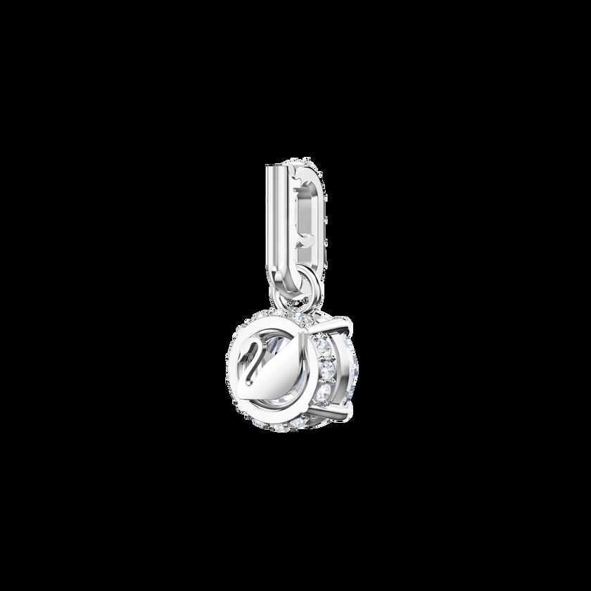 Swarovski Remix Collection Charm, April, White, Rhodium Plating