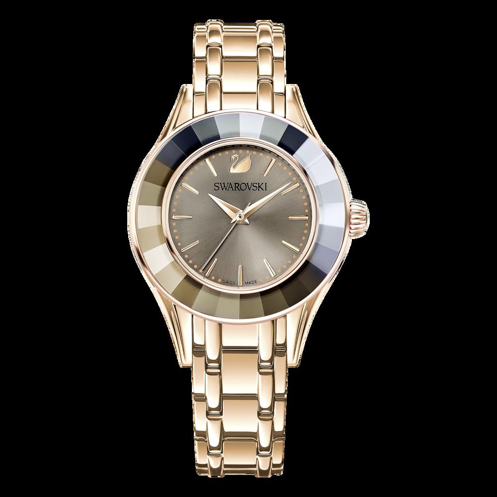 Alegria Watch, Gray, Rose Gold Tone