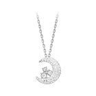 Tough Pendant, White, Rhodium plating