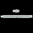 Angelic Bracelet, Green, Rhodium Plated