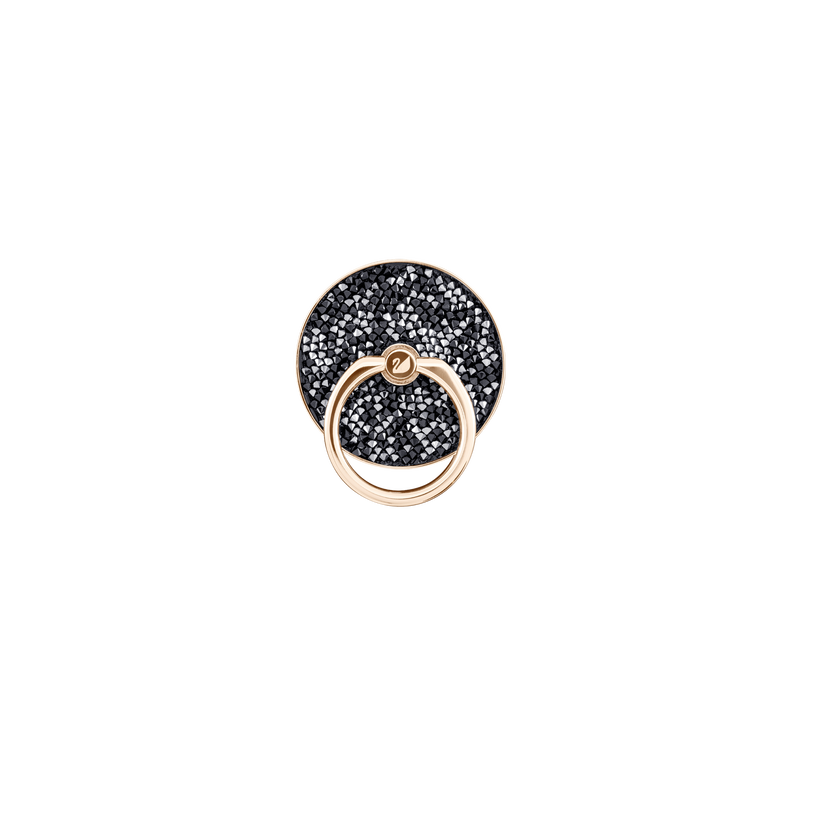 Glam Rock Ring Sticker, Black, Mixed plating