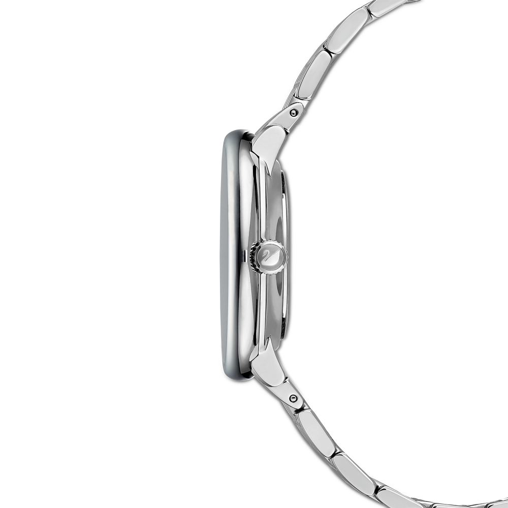 Crystalline Chic Watch, Metal bracelet, Silver Tone, Stainless steel