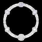 Swarovski Remix Collection Timeless Strand, Blue, Rhodium plated