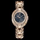 Stella Watch, Metal Bracelet, Dark Gray, Rose Gold Tone