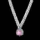 Birthstone Pendant, October, Pink, Rhodium plated