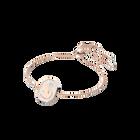 Signum bracelet,  White, Rose gold-tone plated