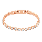 Tennis Bracelet, White, Rose Gold Plated