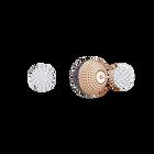 Lollypop Pierced Earrings, Black, Rose Gold Plating