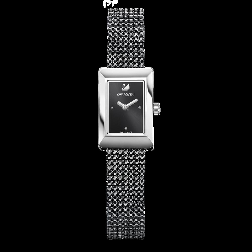 Memories Watch, Crystal Mesh strap, Black, Stainless steel