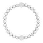 Swarovski Remix Collection Crystal Pearl Strand, Gray, Rhodium plated